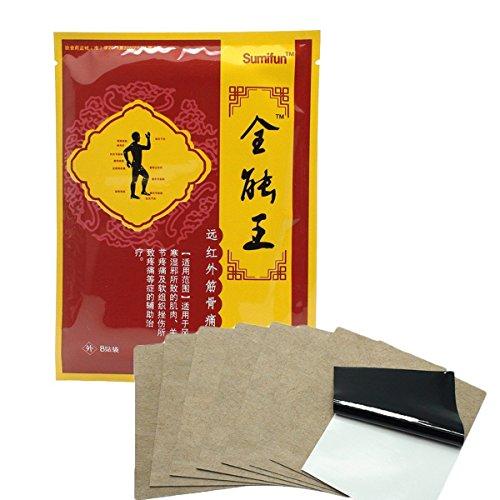 Sumifun - 8 morceaux de patchs de soulagement de la douleur - efficace pour le dos, le cou, le genou et la douleur arthritique avec la thérapie magnétique