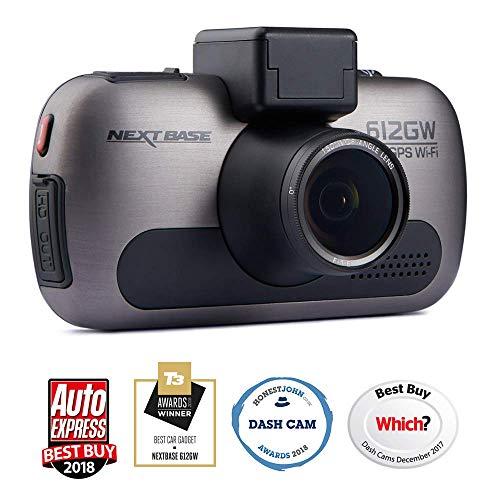 Nextbase 612GW - 4K Ultra HD Res DVR In-Car Dash Cam - 150 degrees - WiFi, GPS, HDR, WDR - Lens Filter - Black (Renewed)