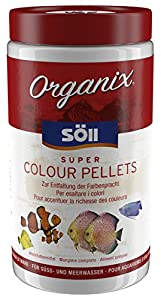 Söll 18744 Organix Super Colour Pellets - Aquariumfutter - Zierfischfutter -...