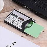 Arithmetic Outil Mini calculatrice pour cartes de visite Calculatrice solaire avec stylo pour étudiants et équipement de bureau