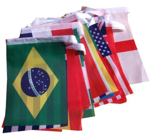 6 Meter Fahnen Girlande, alle 32 Länder Fahne , a 10x15cm