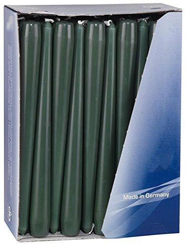 Gies Vert foncé conique Bougies Bougies 24.5 cm (100)