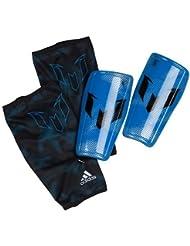 adidas Messi 10 Shinguard - Espinillera, color azul / negro / plata, talla L