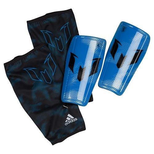 adidas Messi 10 Shinguard - Espinillera, color negro / azul / plata, talla M