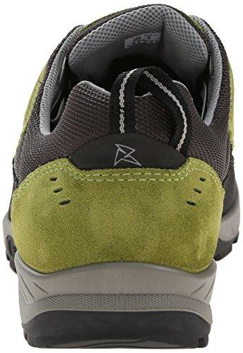 ECCO Yura Men's, Scarpe Sportive Outdoor Uomo Verde(Black/Herbal 57502)
