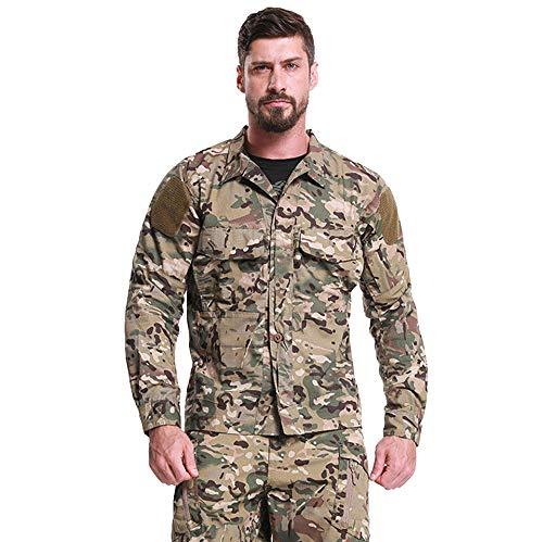 SPECTER Feldhemd Military Tactical Shirt Herren Langarm Rip-Stop Mit verstellbaren Bündchen [M-2XL],XXL -