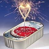 Happy Birthday WonderCake feiner Kuchen in der Dose mit Wunderkerze Herz gold