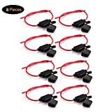 Tian 8 Pack Porte Fusibles 12V Etanche 14AWG 20Amp Auto Voiture Motor Lame Fusible(Taille Moyenne)