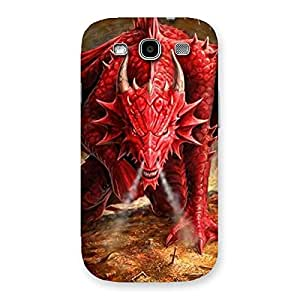 Red Fantastic Dragon Back Case Cover for Galaxy S3