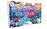 #9: Pola Puzzles Dino Age Tiling Puzzles 60 Pieces For Kids Age 5 years and above Multi Color Size 36CM X 21CM Jigsaw Puzzles for Kids
