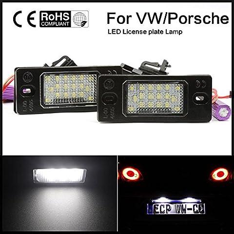 EX1 Auto éclairage de la Plaque d'immatriculation LED 6000K 2W