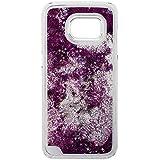 SODIAL(R) Etui des des sables mouvants avec paillette etoile brillant transparent liquid pour Samsung Galaxy S7 Edge violet