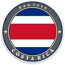 2 x Costa Rica Bandera de vinilo pegatinas pegatinas Laptop Viaje Equipaje Auto iPad Cartel FUN