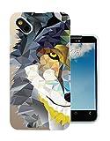 283 - Geometric Aztec Wolf Tiger Face Design Wiko Sunset 2