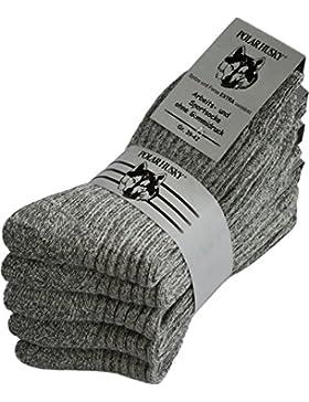 5 Paar Warme Norweger-Arbeitssocken, anthrazit, mit Frotteesohle, 80 % Schafwolle, ohne Gummidruck