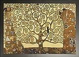 gerahmt Baum des Lebens Stoclet Frieze 1909Kunstdruck von Gustav Klimt Maxi Poster 91,5x 61cm (91,4x 61cm) * Wahl von Rahmen Farben *, Papier, Schwarzer Rahmen, 61 x 91 cm