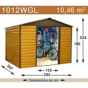 YardMaster - Abri de Jardin Métal - 1012WGL - 11,39 m²