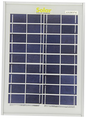 Solar Technologien STP005 Solarpanel, inklusive Kabel, Stecker, 5 Wp wasserdicht Solar Screen Kits
