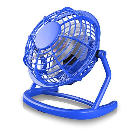 | Tischventilator Fan Lüfter | optimal für den Schreibtisch inkl. An/Aus-Schalter | kompatibel mit PC MAC Notebook | in blau ()