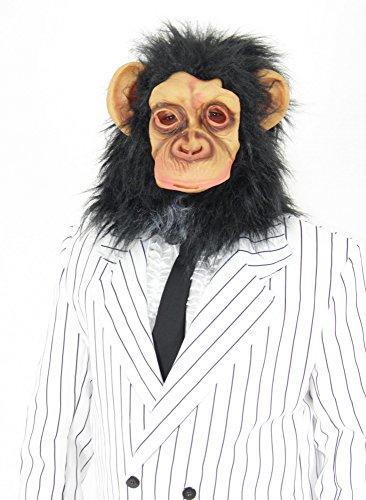 Foxxeo 35080 | Schimpansen Maske Affenmaske Affe ()