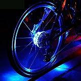 Fahrrad Rad Lichter, Fozela Wasserdichte Fahrradlichter Speichenlicht LED Fahrrad Lichter Licht Rad Speichenleuchten für Felgen mit 3 Modi (Blue)