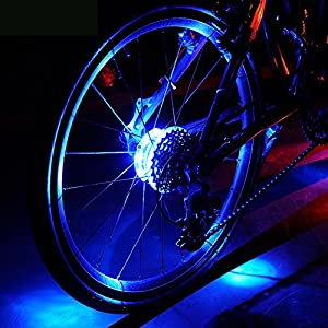 Wasserdichte LED Bike Wheel Lights, Bodecin Cool Colorful Bike Warning Light,...
