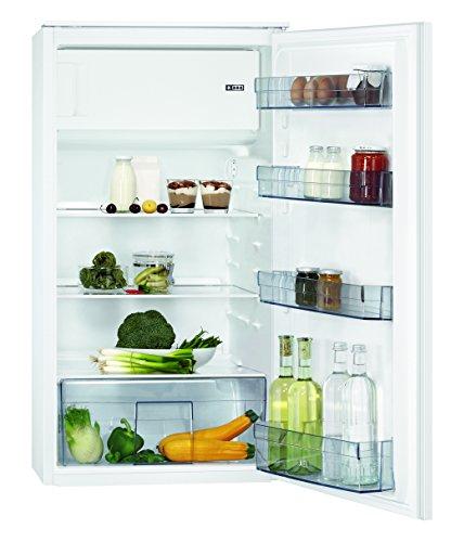 AEG SFB41011AS Kühlschrank / Einbaukühlschrank mit Gefrierfach / 147 l Kühlraum / 17 l 4-Sterne Gefrierfach / sparsame Kühl-Gefrierkombination mit Glasablagen / A+ / Einbau-Höhe: 103 cm