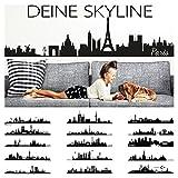 Wandora Wandtattoo Skyline Istanbul I schwarz (BxH) 100 x 21 cm I Wohnzimmer selbstklebend Sticker Aufkleber Stadt Städte der Welt Wandsticker Wandaufkleber W1366