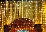 DROHE-Q Fata Luci Nette Tenda Stella Natale Camera Decorazione Camera da Letto LED Veloce Stringa Appendere Bianco Caldo (2 * 2m)