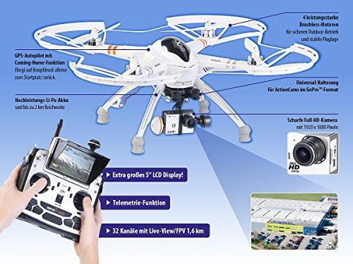 Simulus Quadrocopter QR-X350.PRO mit Fernsteuerung, Gimbal & Full-HD-Cam - 2
