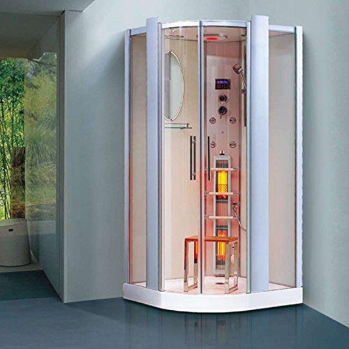 """Preisvergleich Produktbild Infrarotdampfdusche """"Santorin"""" Infrarotkabine, Infrarot Dampfdusche, Dampf Sauna, Dusche, Wärmekabine"""