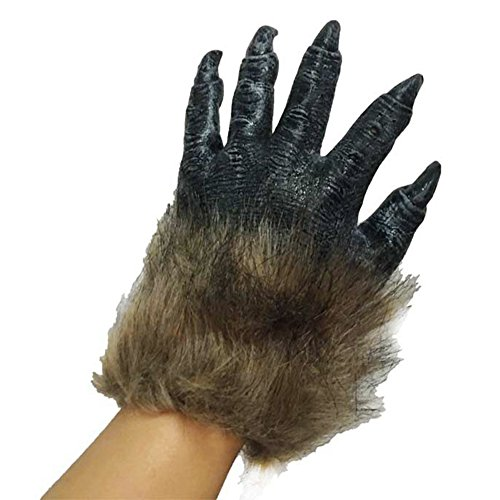 hefeibiaoduanjia Fell-Monster, Werwolf-Handschuhe, Halloween-Requisite, Cosplay, Kostüm-Handschuhe, Fellmonster, Werwolf, Handschuhe, Halloween-Requisite - Plus Größe Sexy Werwolf Kostüm