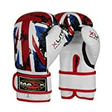 Maxx UK Flag adults boxing gloves Rex leather 10oz - 16oz
