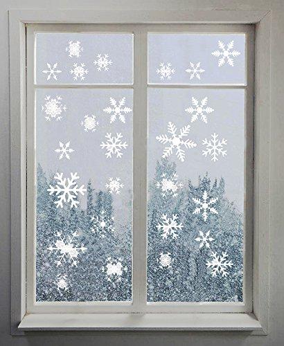Homankit 81 Stickers pour fenêtre Motif Flocons de Neige Blanc