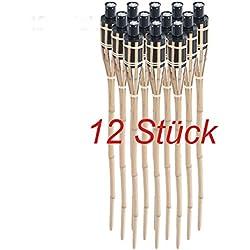 DXP 12 x Antorchas de bambú 90 cm antorchas bambu EZH-01(12)