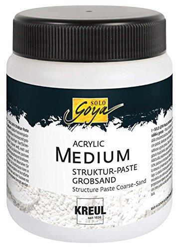 Kreul 85605 - Solo Goya Acrylic Medium, Strukturpaste Grobsand, 250 ml Dose, weiß