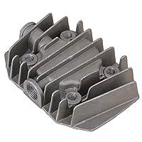 WEONE gris metal 15mm 3 / 8BSP de rosca interior de la culata del compresor de aire de piezas de repuesto de hardware