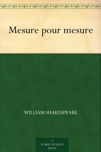 Couverture du livre Mesure pour mesure