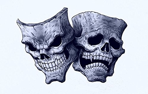 sken Aufkleber Sticker Schädel Skulls ca. 11x8 cm Autoaufkleber Lachen Weinen ()
