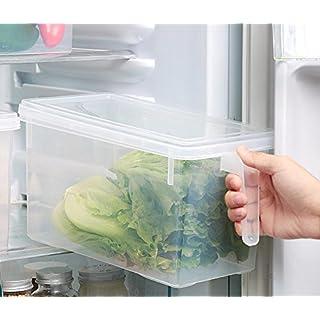Aojia 3 Stück küche Aufbewahrungsbox Lebensmittelbehälterfür Kühlschrank Speicher kunststoffbox aufbewahrungmit Deckel und Griff, 6017+3B
