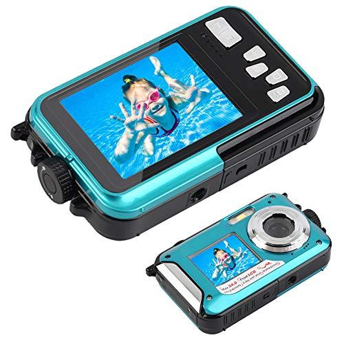 Unterwasserkamera Camcorder 24 MP Digitalkamera Wasserdichte Kamera Dualer Bildschirm Vollfarb-LCD-Anzeigen Wasserdichte Selfie-Videokamera