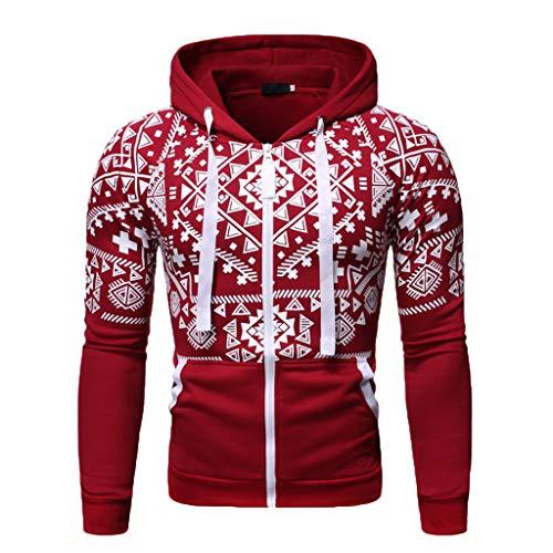 GKOKOD Herren Strickjacke Hoodie,Herren Reißverschluss Kapuzenpullover Basic Sweatjacke Kapuzenjacke Herbst Winter Pullover Mit Kapuze Pulli Kleidung