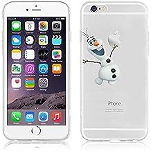 Carcasa flexible de poliuretano termoplástico transparente con dibujos de Disney para iPhone 6/6S y 6 plus/6plus S, plástico, OLAF .1, APPLE IPHONE 6/6S