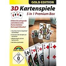 3D Kartenspiele Box Gold Edition - Skat, Poker, Doppelkopf, Schafkopf, Rommé für Windows 10 / 8.1 / 7