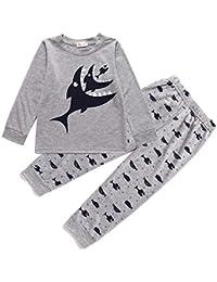 Toddle Boys Pjs Dinosaur Pyjamas Set Boys Winter Nightwear Kids Pyjama Long Sleeve Sleepwear Clothes 2 Pieces 100% Cotton Age 1-6 Years