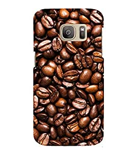 printtech Coffee Beans Back Case Cover for Samsung Galaxy S7 edge / Samsung Galaxy S7 edge Duos with dual-SIM card slots