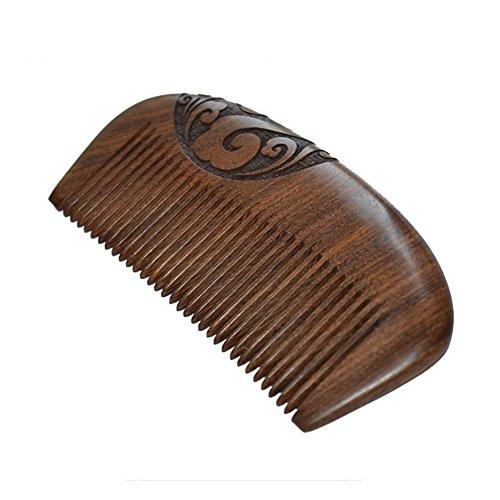 Demarkt Kamm Kamm aus Holz Natürliche Sandelholz Kamm Anti-Statischer und Anti-Haarausfall Taschenkamm