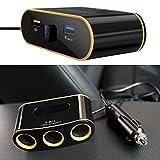 Keepart QC3.0 USB-Ladegerät Voltmeter 12 V 24 V Steckdose Splitter