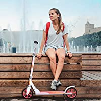 Birtech Kick Scooter,Adult Scooter Foldable Lightweight Urban Sport Scooter with 3-Level Adjustable Handlebar for Adult Teen Ages 12+, 200mm Wheels & Carry Strap,Support 220lbs