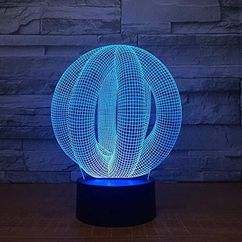 DONG 3D Illusion Fernbedienung Lampe Licht USB abstrakte volle Lava Lampe für Weddi, LED Schreibtisch Tisch Nachtlicht Lampe -